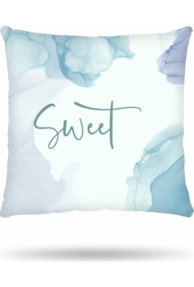 NevresimEv Home Sweet Home 4'lü Dekoratif Kırlent Kılıf Seti -K43