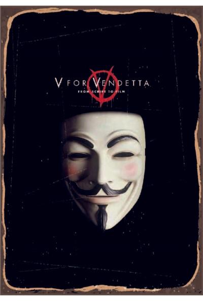 Marple's V For Vendetta 35x50 Rustik Poster