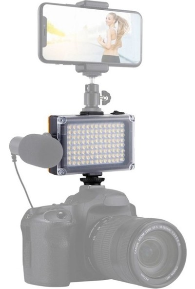 3E1A Video LED Işık 104LED Type-C ile Sürekli Çalışma Ekstra 2 Kızaklı