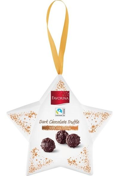 Favorina Dark Chocolate Truffle With Rum Filling 40GR