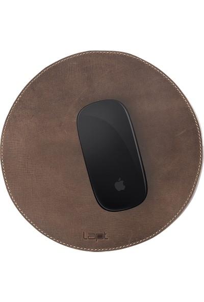 Lapt Yuvarlak Deri Mouse Pad