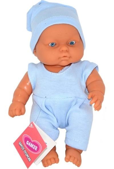 Gamze Oyuncak Minik Et Bebek Mavi 20 cm
