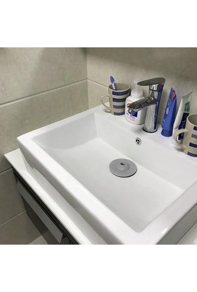 Sas Silikon Süzgeçli Lavabo Banyo Tıkacı Evye Küvet Gider Tıpası