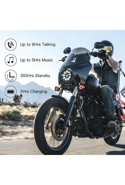 Ejeas E300 Motosiklet Kask Intercom Kulaklık Kablosuz (Yurt Dışından)
