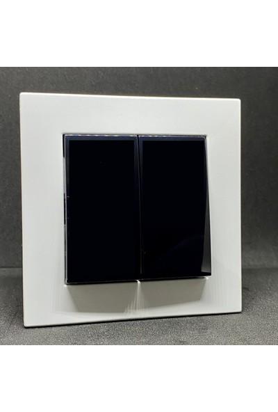 Elbi Vega Komütatör Çerçeveli Beyaz Siyah Renkli