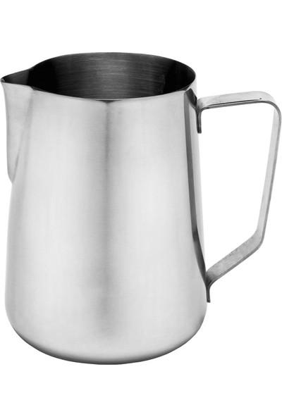Biradlı Paslanmaz Çelik Süt Kahve Potu 700 ml
