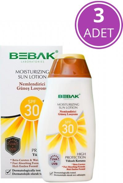 Bebak Nemlendirici Güneş Losyonu 30 Spf Orta Koruma Kutulu 3x200 ml
