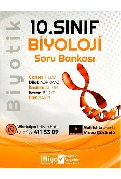 Biyotik Yayınları 10. Sınıf Biyoloji Biyotik Soru Bankası