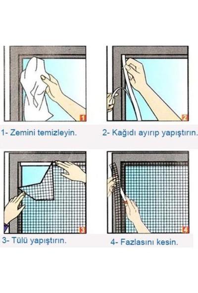 Arsimo Kesilebilir Pencere Sinekliği Cırt Bantlı Yapışkanlı 100CM x 150CM