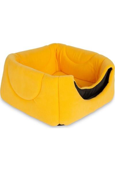 Sarı Üç Fonksiyonlu Kedi Yatağı Sarı 3 Fonksiyon