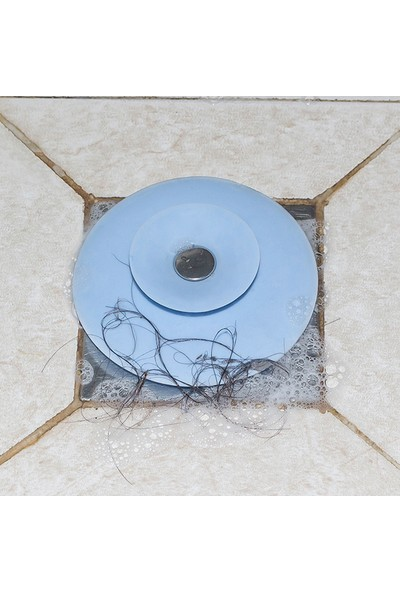 Bamovi Çok Fonksiyonlu Banyo Mutfak Lavabo Tıkacı Süzgeç Küvet Süzgeci Tıkacı Mavi