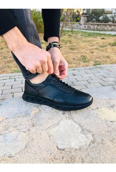 Baggu Biocomfort Erkek Siyah Deri Ayakkabı