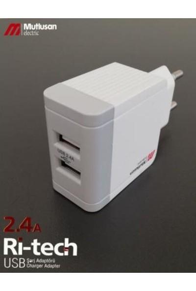 Mutlusan 2'li USB Fiş Adaptör