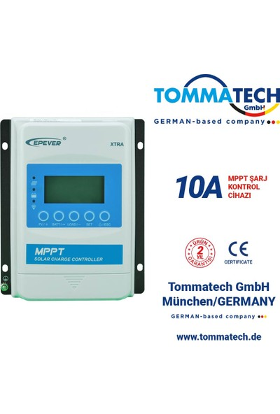 Tommatech 10A Mppt Şarj Kontrol Cihazı 1210