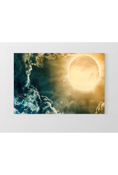 Deniz Çerçeve Ay Işığı Ve Gökyüzü Tablosu Çerçevesiz