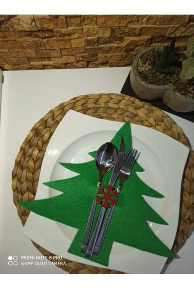 Kivi Store 6 Adet Çam Ağacı Keçe Kaşıklık Servislik Sunum