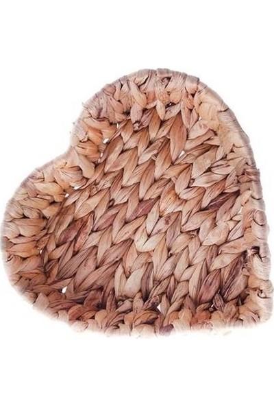 Tmall Home Kalp Şeklinde Dekoratif Örgü Sepet Küçük - 003269
