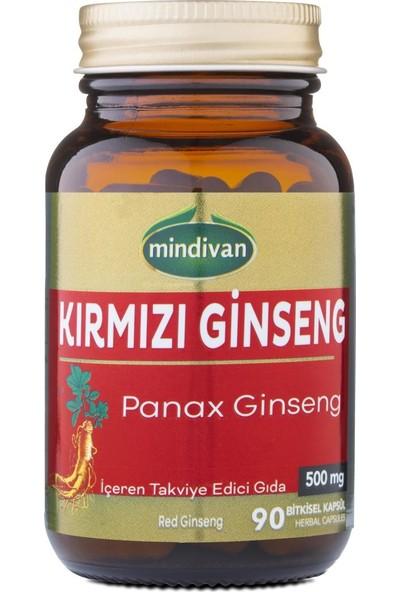 Mindivan Kırmızı Ginseng Extractı 90 Kapsül 500 Mg