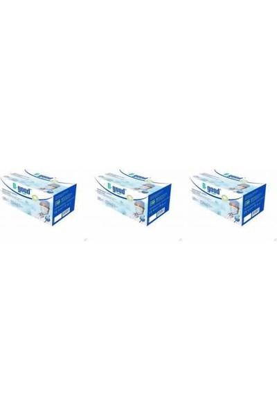 B-good Cerrahi Maske Tekli Paket Steril Filtreli 3 katlı Telli Mavi 50 Adet 3'lü