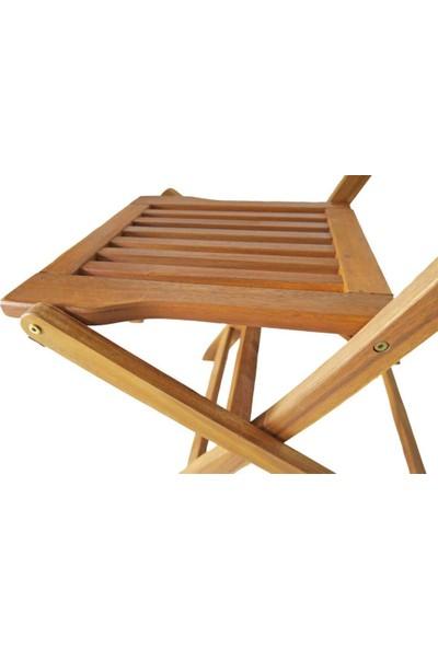 Housepack Bali Akasya Ahşap Katlanır Sandalye 2 Adet