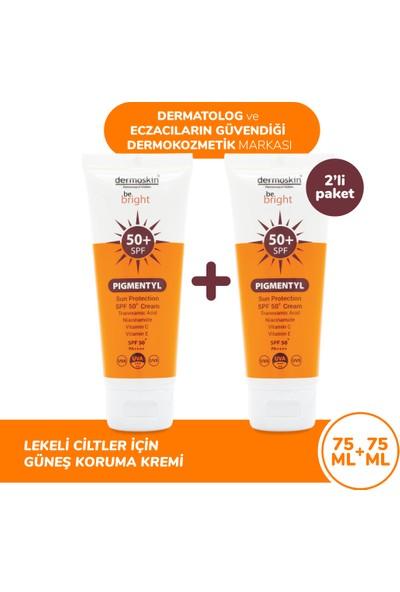 Dermoskin Be Bright Pigmentyl Güneş Koruyucu SPF 50+ Krem 75 ml - 2'li