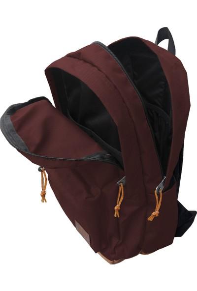 Jacbag Campus Backpack-Deri Tabanlı İki Bölmeli Sırt Çantası