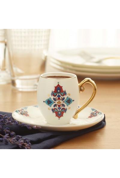 Karaca Firuzan 6 Kişilik Kahve Fincan Takımı