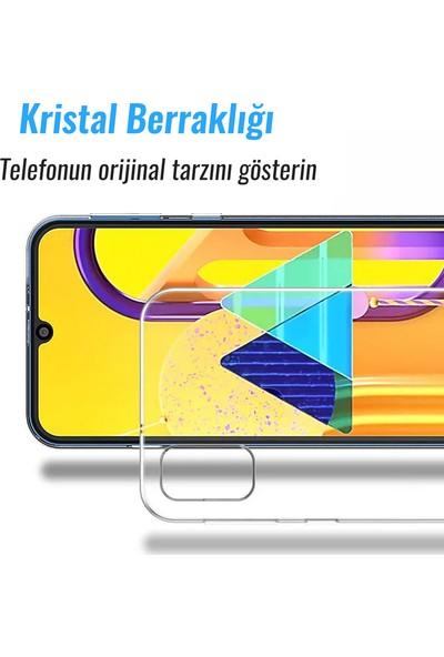 CepStok Samsung Galaxy M51 Kılıf Şeffaf Silikon 3D Kamera Lens Korumalı