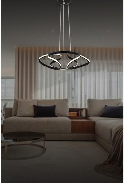 Lunalighting Modern Siyah LED Avize Sarkıt
