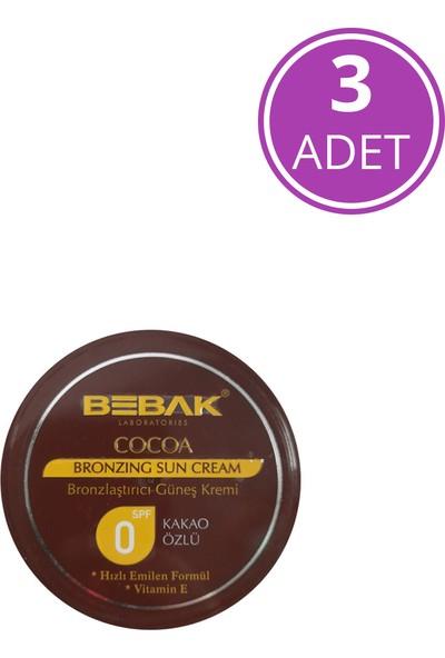 Bebak Güneş Kremi Kakao Özlü Kavanoz 100 ml - 3 Adet