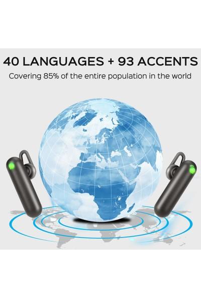 Timekettle Wt2 Gerçek Zamanlı Kablosuz Bluetooth Tercüman (40 Dil ve 93 Aksan) (Yurt Dışından)
