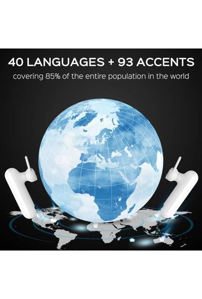Wt2 Dil Tercüman - Gerçek Zamanlı Bluetooth Tercüme Kulaklıkları (40 Dil ve 88 Aksan) (Yurt Dışından)