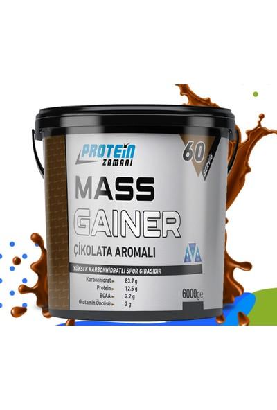 Protein Zamanı Mass Gainer Karbonhidrat Tozu 6000 gr Çikolata Aroma + Shaker