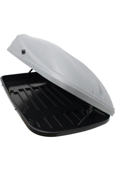 Rich Araç Üstü Port Bagaj Portbagaj Tabut Bavul 390LT Beyaz Renk