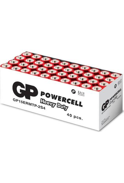 Gp 15E Powercell Kalem Pil Çinko Karbon Aa R6, 1.5V, 40'lı