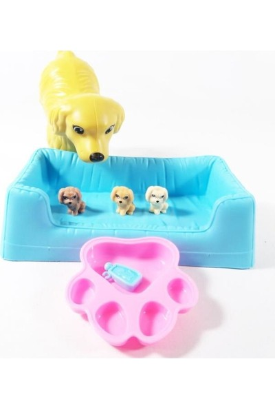 Esmer Barbie ve Köpeği Oyun Seti - KQ060-ESMER