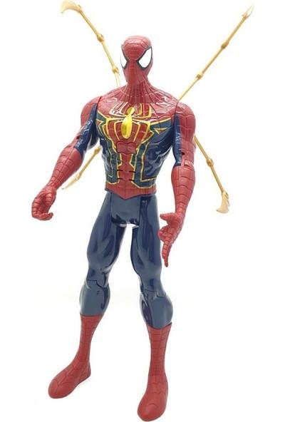 Yeni Sepetim Spiderman Işıklı Sesli Titan Hero 30CM Figür Avengers Infinity War