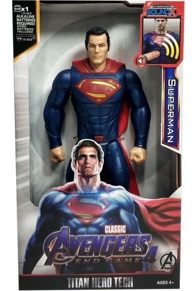 Yeni Sepetim Avengers Sesli Superman Figür Oyuncak - 8818-5-SUPERMAN