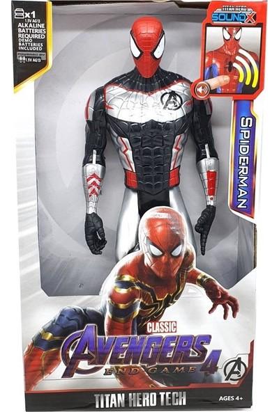Yeni Sepetim Spiderman Işıklı Sesli Titan Hero 30CM Figür Avengers End Game
