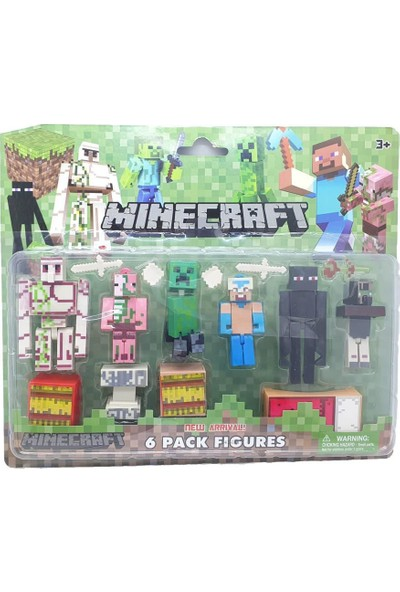 Yeni Sepetim Minecraft Aksesuarlı Figür Seti 15 Parça - 66066