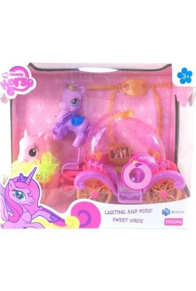 Pony Işıklı Sesli Balo Arabalı – BYL015-2