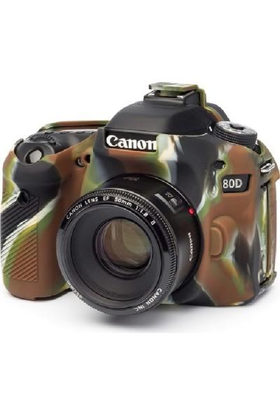 Dp Canon 80D Kamuflaj Silikon Kılıf