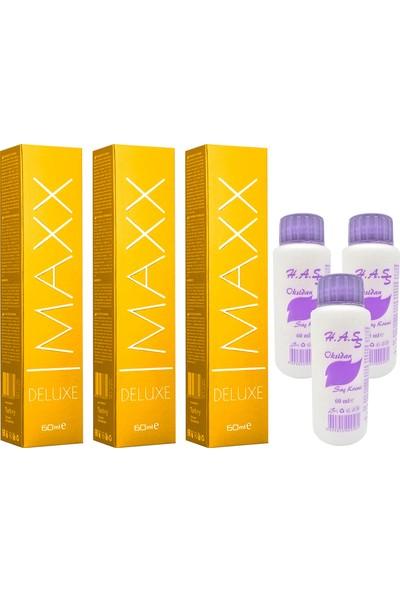 Maxx Deluxe Saç Boyası Küllü Kumral-7/1 x 3