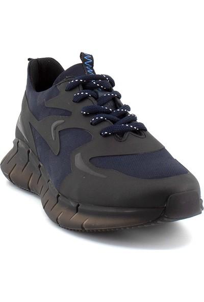 Scootland 12532 Erkek Deri Günlük Ayakkabı Siyah - Lacivert