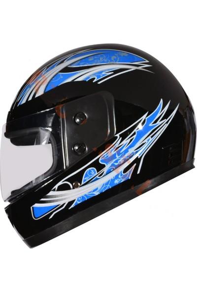 Sps Motosiklet Boğazlı Kask Siyah