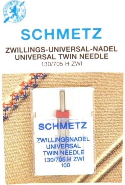 Schmetz Ev Tipi Çiftli Dikiş Iğnesi 4.0/100 / 130/705 H-E Zwı