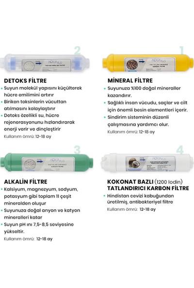 Milsuart Mineral Alkalin Detoks Tatlandırıcı 4lü Su Arıtma Filtresi