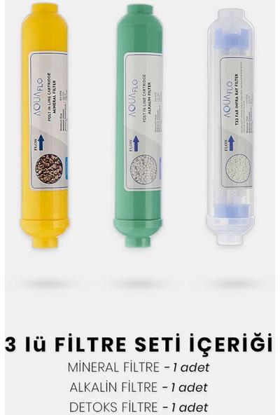 Milsuart Mineral Alkalin Detoks 3lü Su Arıtma Filtresi