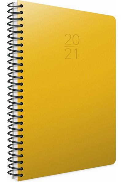Gıpta 2021 Ekonomik Günlük Ajanda Spiralli 20 x 28 cm Sarı