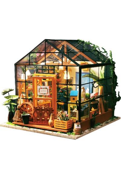 Buyfun Diy Dollhouse Ahşap Oda Kiti Ev Dekorasyon